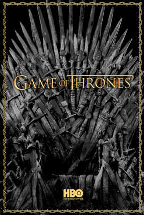 Lienzo  Game of Thrones - The Iron Throne - gold