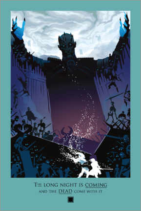 Póster  Game of Thrones - Night and Death Quote