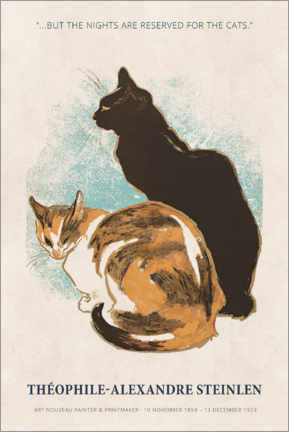 Cuadro de plexi-alu  Théophile-Alexandre Steinlen - Reserved for the cats - Museum Art Edition