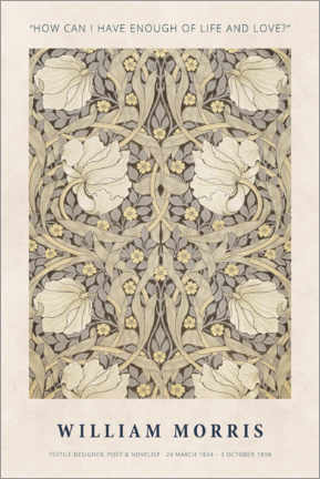 Cuadro de madera  William Morris - Life and love - Museum Art Edition