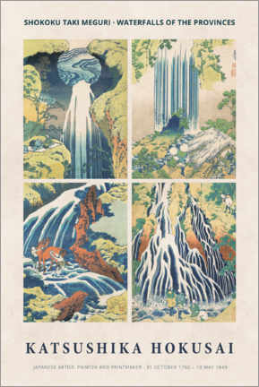 Lienzo  Hokusai - Waterfalls - Museum Art Edition
