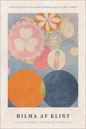 Lienzo  Hilma af Klint - With great power - Museum Art Edition