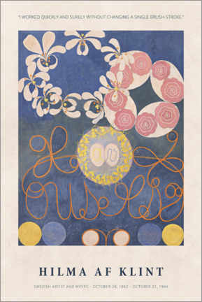 Póster Hilma af Klint - Quickly and surely