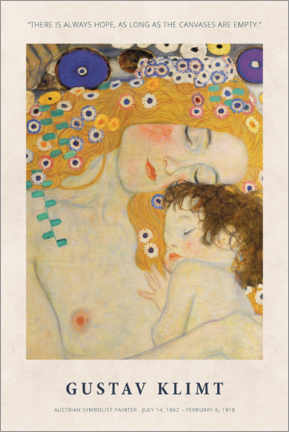 Póster  Gustav Klimt - There is always hope - Museum Art Edition