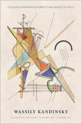 Cuadro de madera  Wassily Kandinsky - Colour is a power - Museum Art Edition