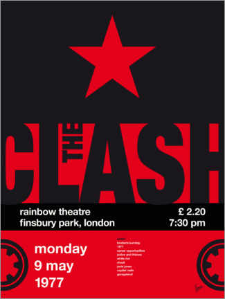 Póster The Clash Concert Poster