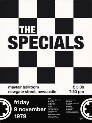 Póster The Specials Concert Poster