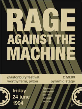 Póster Rage Against the Machine Concert Poster