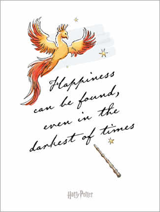 Póster Happiness can be found - Harry Potter Quote