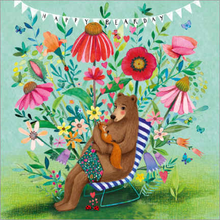 Póster  Bear and squirrel - Mila Marquis