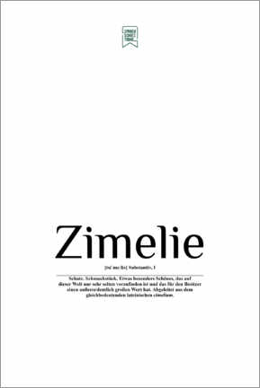 Lienzo  Beautiful words - Zimelie (German) - Sprachschatztruhe