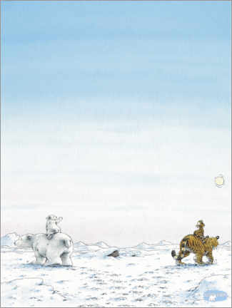 Póster  The little polar bear Lars and the little tiger