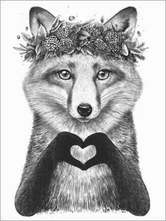 Póster Fox with love