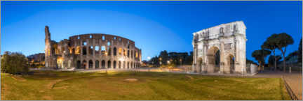 Póster Colosseum and Arch of Constantine in Rome