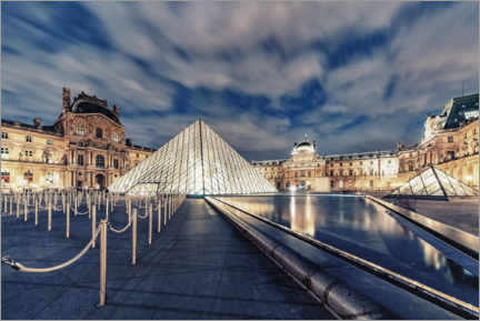 Póster  The Louvre by night - Manjik Pictures