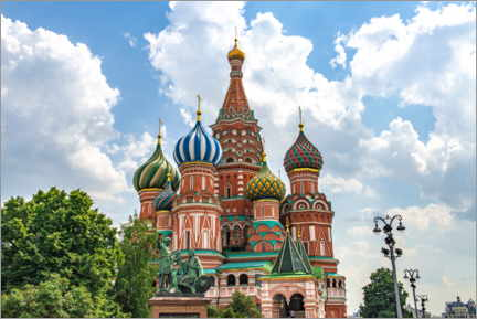 Lienzo  St. Basil's Cathedral in Moscow III - HADYPHOTO