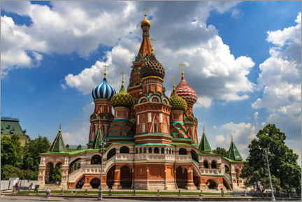 Lienzo  St. Basil's Cathedral in Moscow II - HADYPHOTO