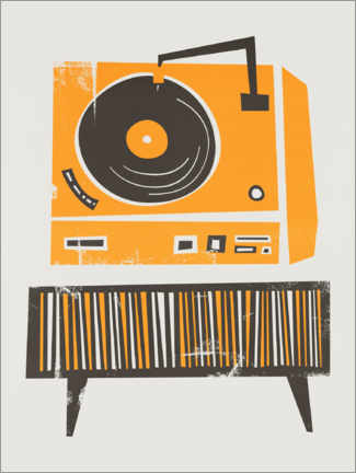 Póster Record Player