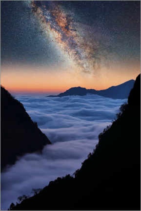 Póster  The Himalayas in the evening - Manjik Pictures
