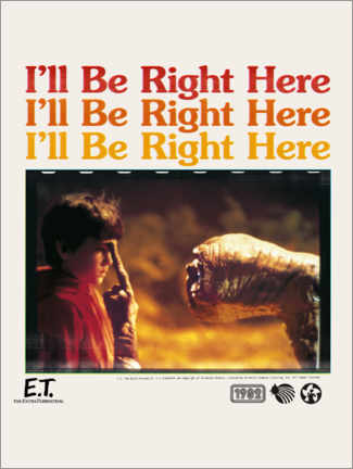 Póster  E.T. - I'll be right here