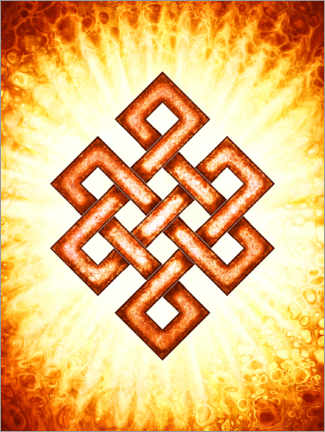 Lienzo  Endless Knot - In The Core Of The Sun - Dirk Czarnota