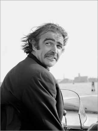 Póster  Scottish actor Sean Connery in Venice 1970s