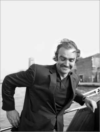 Póster  Scottish actor Sean Connery, Venice 1970s