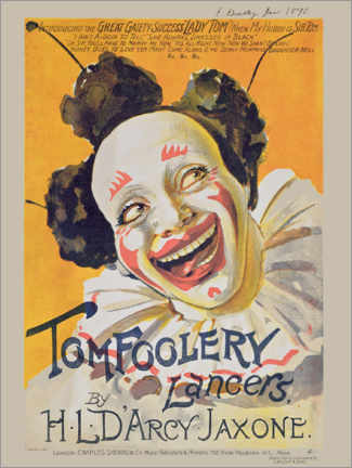 Póster  Musical Cover, Tom Foolery Lancers, 1898