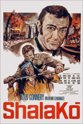 Póster  Shalako movie poster by Edward Dmytryk with Sean Connery 1968