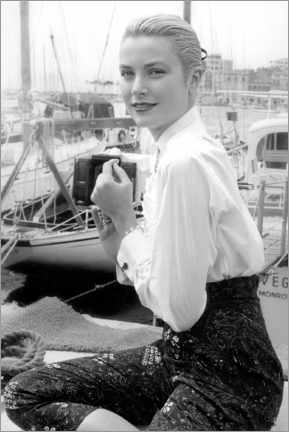 Póster  Grace Kelly at Cannes Festival, 1955