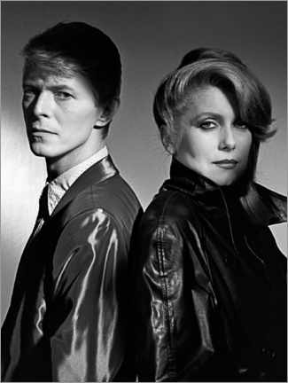 Lienzo  David Bowie and Catherine Deneuve in 'The Hunger', 1983