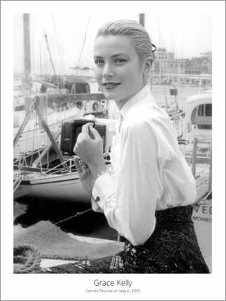 Póster  Grace Kelly, Cannes Festival on May 6, 1955