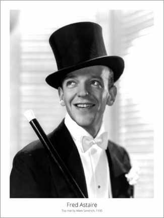 Póster  Fred Astaire, Top Hat by Mark Sandrich, 1935