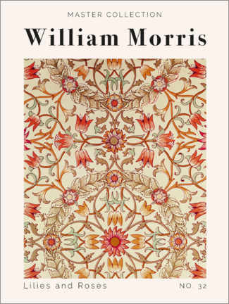 Lienzo  Lilies and Roses No. 32 - William Morris