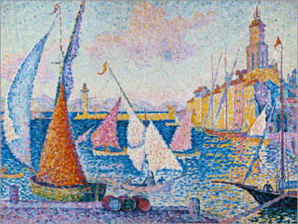 Póster Sailing boats in the harbour of Saint Tropez