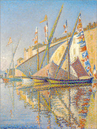 Póster Sailing boats at the port of Saint Tropez