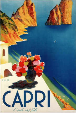 Póster  Capri, la isla del sol - Travel Collection