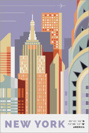 Póster new york skyline