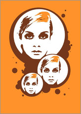 Cuadro de plexi-alu  Twiggy Mathmos Orange - JASMIN!