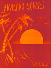 Lienzo  Hawaiian sunset - Entertainment Collection