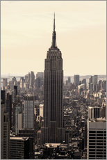 Vinilo para la pared  Empire State Building Vintage - Buellom