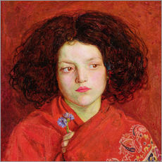 Cuadro de plexi-alu  The Irish Girl - Ford Madox Brown