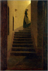 Cuadro de plexi-alu  Caroline on the stairs - Caspar David Friedrich