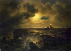 Cuadro de plexi-alu  Helgoland in the moonlight - Christian Ernst Bernhard Morgenstern