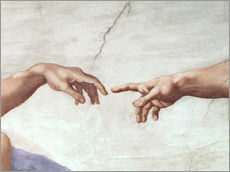 Vinilo para la pared  The Creation of Adam (Detail) - Michelangelo