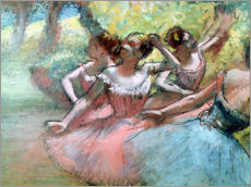 Cuadro de plexi-alu  Four ballerinas on the stage - Edgar Degas