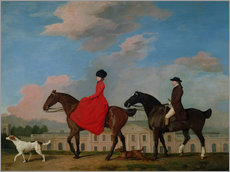 Cuadro de plexi-alu  John and Sophia Musters riding at Colwick Hall - George Stubbs