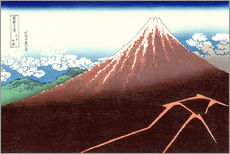 Vinilo para la pared  Fuji above the Lightning - Katsushika Hokusai
