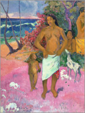 Lienzo  Paseo por la playa - Paul Gauguin