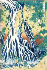 Vinilo para la pared  Kirifuri Fall on Kurokami Mountain - Katsushika Hokusai